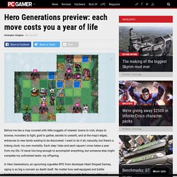 Hero Generations preview: each move costs you a year of life
