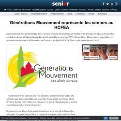 Générations Mouvement représente les seniors au HCFEA - 10/03/18