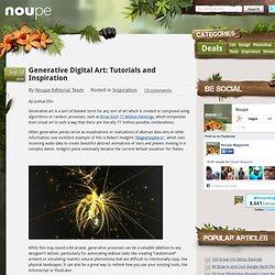 Generative Digital Art: Tutorials and Inspiration