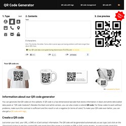 QR Code generator - create QR Codes (for free) [logo, business card, vCard, t-shirt, mug] - goQR.me