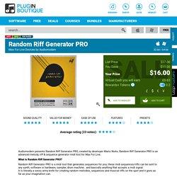 Random Riff Generator PRO, Random Riff Generator PRO plugin, buy Random Riff Generator PRO, download Random Riff Generator PRO trial, Audiomodern Random Riff Generator PRO