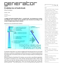 Generator - Evolution tree of tooth-brush