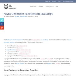 Async Generator Functions in JavaScript