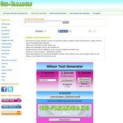 Glitzer Text Generator- Glitter Text einfach und kostenlos erstellen - Gif-Paradies
