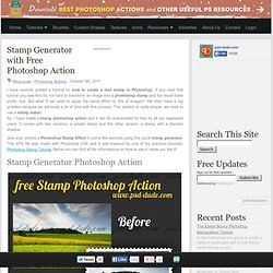 Stamp Generator with Free Photoshop Action