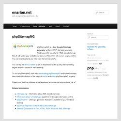 Free Google Sitemap generator phpSitemapNG