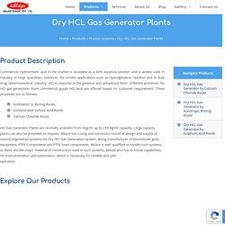 Dry HCL Gas Generator Plants