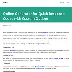 Online Generator for Quick Response Codes with Custom Options