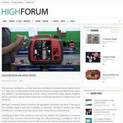 Generator repair and service centres - High Forum