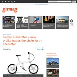 Human Generator – new e-bike trades the chain for an alternator