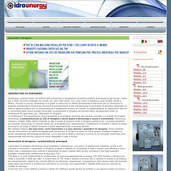 Generatori di idrogeno - IDROENERGY