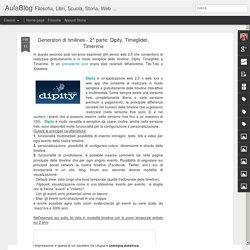 Generatori di timilines - 2^ parte: Dipity, Timeglider, Timerime
