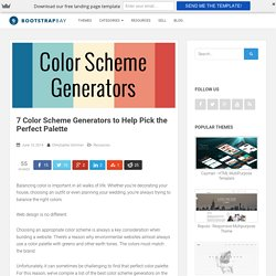 7 Color Scheme Generators to Help Pick the Perfect Palette