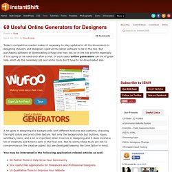 60 Useful Online Generators for Designers