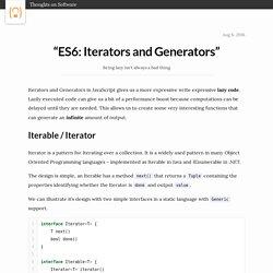 ES6: Iterators and Generators