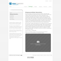 Generators < EAU Technologies, Empowered Water