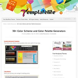 30+ Color Scheme and Color Palette Generators
