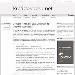 Compte-rendu des États Généraux de l'identité numérique | FredCa