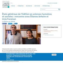 États généraux de l'édition en sciences humaines et sociales