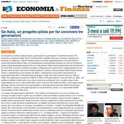 Ge Italia, un progetto-pilota per far convivere tre generazioni