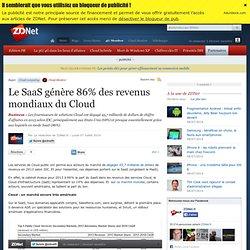 Le SaaS génère 86% des revenus mondiaux du Cloud