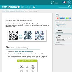Générer un code QR avec Unitag