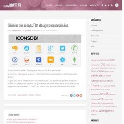 Générer des icônes Flat design personnalisées - CfmWeb