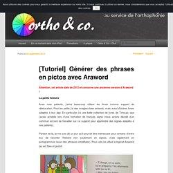 Générer des phrases en pictos avec Araword