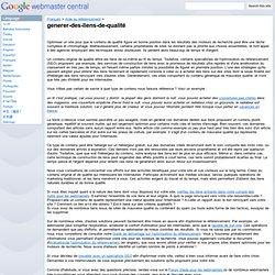 generer-des-liens-de-qualité - Google Webmaster Help