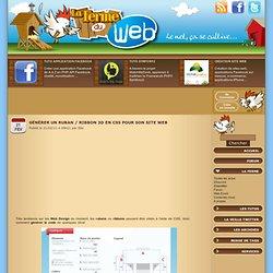 Générer un ruban / ribbon 3D en CSS pour son site web