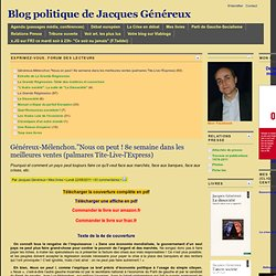 Blog Jacques Genereux