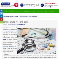 Generic Drugs: Pros and Cons