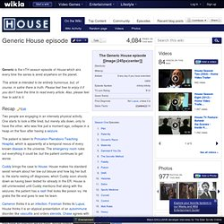 Generic House episode
