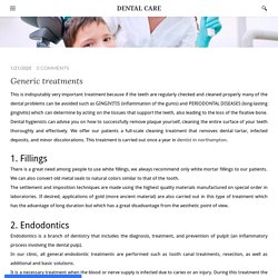 Generic treatments - DENTAL CARE