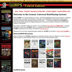 GURPS: Generic Universal RolePlaying System