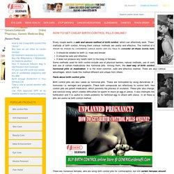 GenericSeldenafil- Online Pharmacy, Generic Medicine Blog - How to Get Cheap Birth Control Pills Online?