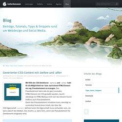 Generierter CSS-Content mit :before und :after