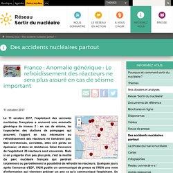 France: Anomalie générique: Le refroidissement des réacteurs ne sera plus assuré en cas de séisme important