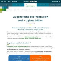 La générosité des Français en 2018 - 24ème édition