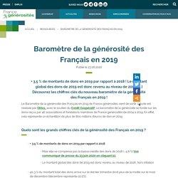 Baromètre de la générosité des Français en 2019 - France générosités