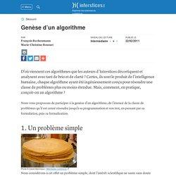 Genèse d'un algorithme