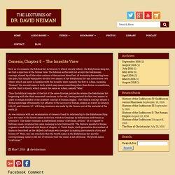 Genesis – The Israelite View