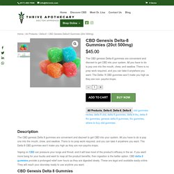 CBD Genesis Delta 8 Gummies
