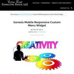 Genesis Mobile Responsive Custom Menu Widget > VictorFont.com