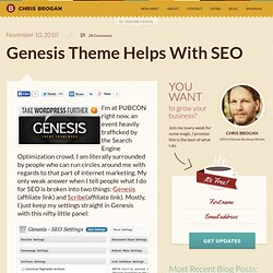 Genesis Theme Helps With SEO