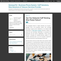 Can You Subsume VoIP Working After Power Failure?