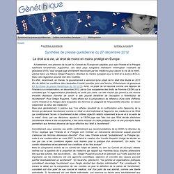 Le droit à la vie, un droit de moins en moins protégé en Europe
