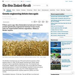 Genetic engineering debate rises again - Environment
