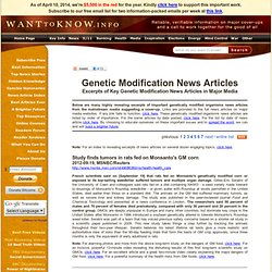 Genetic Modification News Articles