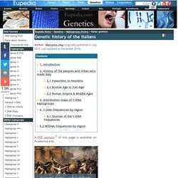 Genetic origins of the Italian people